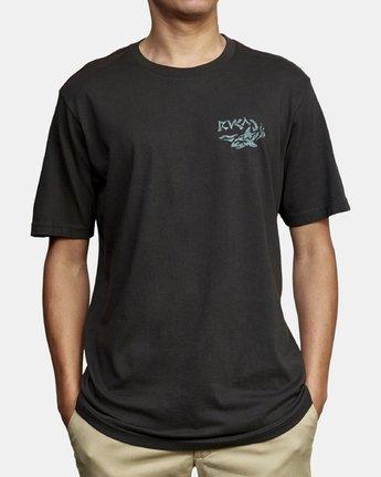 3 Castaway T-Shirt Black M430WRCA RVCA