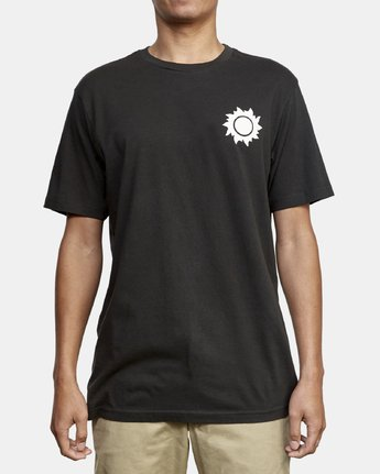 2 Eclipsed T-Shirt Black M430WREC RVCA