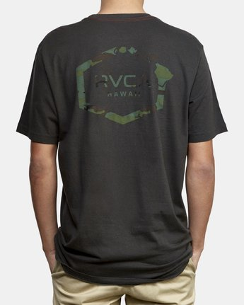 4 Island Hex Fill T-Shirt Black M430WRIS RVCA