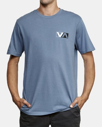 3 Lateral T-Shirt Blue M430WRLA RVCA