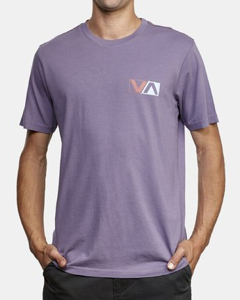 3 Lateral T-Shirt Purple M430WRLA RVCA