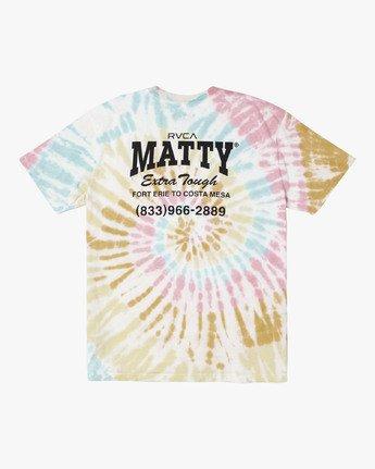 1 MATTY'S TIE DYE TEE  M431WRET RVCA