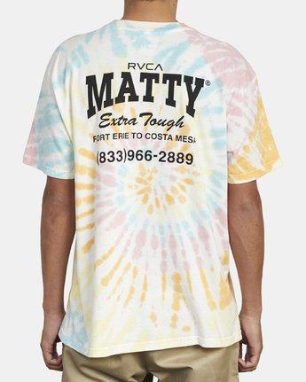 6 MATTY'S TIE DYE TEE  M431WRET RVCA
