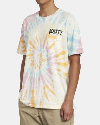4 MATTY'S TIE DYE TEE  M431WRET RVCA