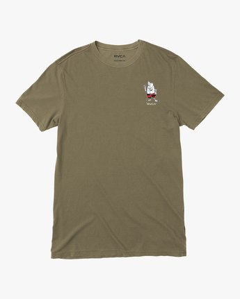0 Birdwell Solo Birdie Embroidered T-Shirt Green M432PRSB RVCA