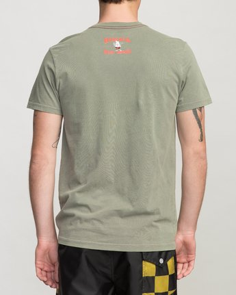 4 Birdwell Solo Birdie Embroidered T-Shirt Green M432PRSB RVCA