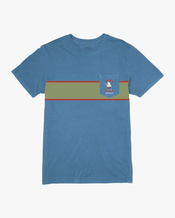 0 Birdwell Side Runner Pocket T-Shirt Blue M433PRSR RVCA
