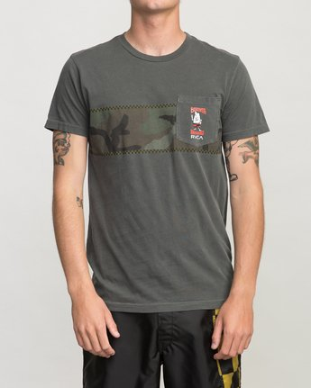 1 Birdwell Side Runner Pocket T-Shirt Black M433PRSR RVCA