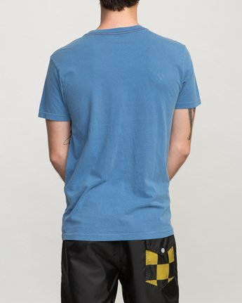 3 Birdwell Side Runner Pocket T-Shirt Blue M433PRSR RVCA