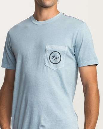 5 Faces Pocket T-Shirt Blue M433SRFA RVCA