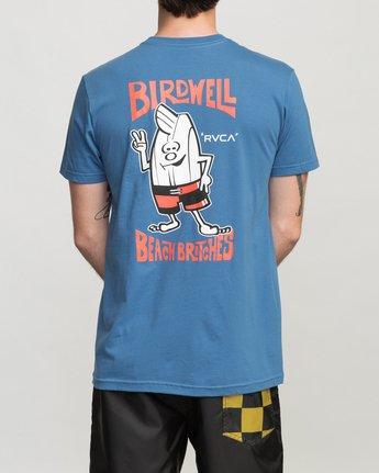 4 Birdwell Collab 01 T-Shirt Blue M434PRCL RVCA
