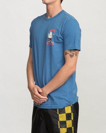 3 Birdwell Collab 01 T-Shirt Blue M434PRCL RVCA
