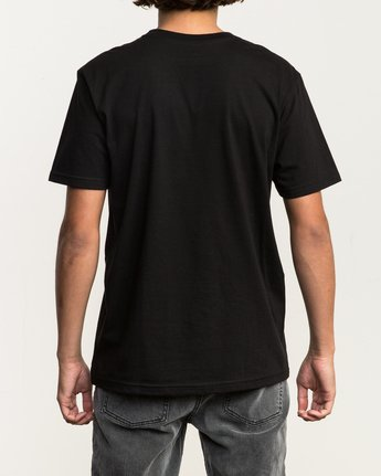 3 Dropped In TEE Black M434SRDR RVCA