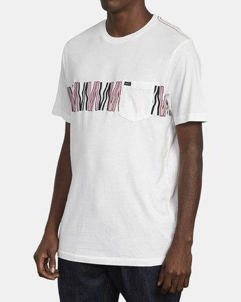 3 VA FLOW T-SHIRT White M4361RFL RVCA