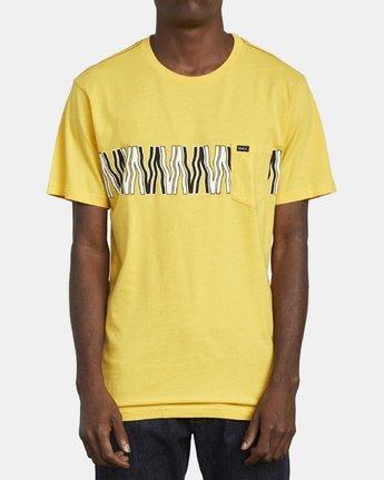 1 VA FLOW TEE Yellow M4361RFL RVCA