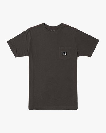 0 ANP POCKET SHORT SLEEVE TEE Black M4362RAN RVCA