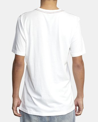 4 ANP POCKET SHORT SLEEVE TEE White M4362RAN RVCA