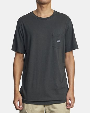 1 ANP POCKET SHORT SLEEVE TEE Black M4362RAN RVCA