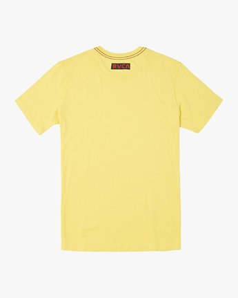 1 LUCHADOR SHORT SLEEVE T-SHIRT Yellow M4362RLU RVCA