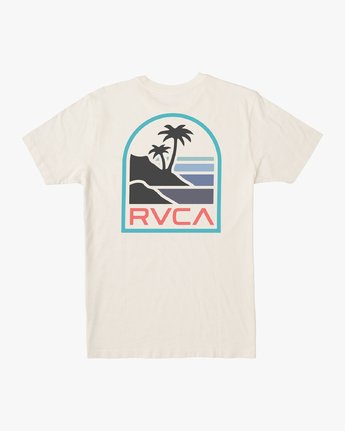 1 VISTA SHORT SLEEVE TEE White M4362RVI RVCA
