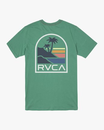 1 VISTA SHORT SLEEVE T-SHIRT Green M4362RVI RVCA