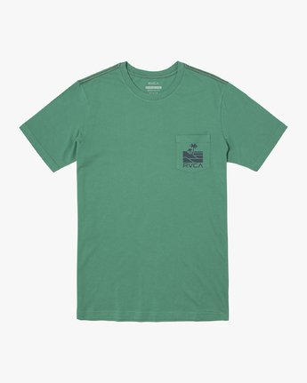 0 VISTA SHORT SLEEVE TEE Green M4362RVI RVCA