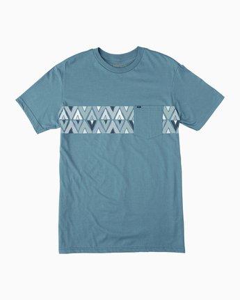 0 Mod Stripe Pocket T-Shirt Blue M436SRMO RVCA