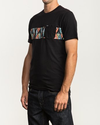 2 Mod Stripe Pocket T-Shirt  M436SRMO RVCA