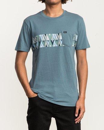 1 Mod Stripe Pocket T-Shirt Blue M436SRMO RVCA