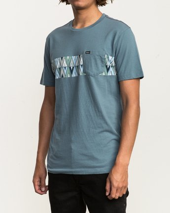 2 Mod Stripe Pocket T-Shirt Blue M436SRMO RVCA