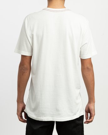 3 ANP Pocket T-Shirt White M436TRAN RVCA