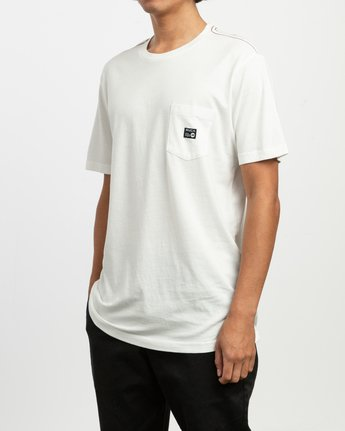 2 ANP Pocket T-Shirt White M436TRAN RVCA