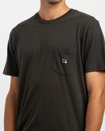 4 ANP Pocket T-Shirt Black M436TRAN RVCA