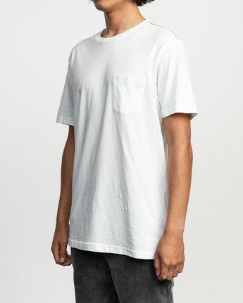 2 PTC Standard Wash T-Shirt White M436TRPT RVCA