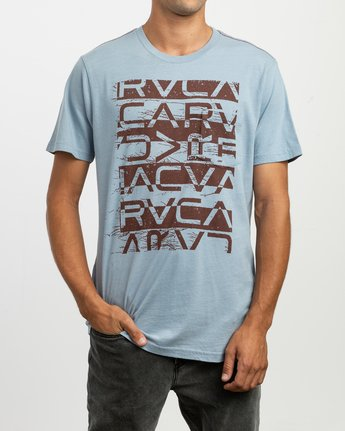 1 Staxt T-Shirt Blue M436TRST RVCA