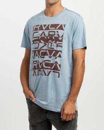 2 Staxt T-Shirt Blue M436TRST RVCA