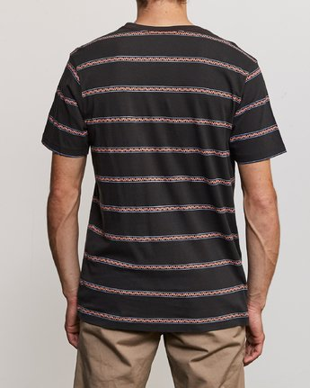 3 Retro VA Striped T-Shirt Black M436URRV RVCA