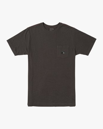 0 ANP Pocket T-Shirt Black M436VRAN RVCA