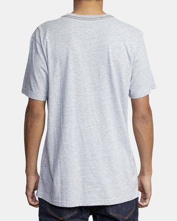 3 PTC STANDARD WASH SHORT SLEEVE TEE Grey M436VRPT RVCA