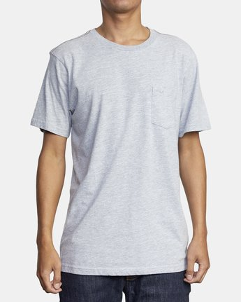 1 PTC STANDARD WASH SHORT SLEEVE TEE Grey M436VRPT RVCA
