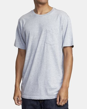 4 PTC STANDARD WASH SHORT SLEEVE TEE Grey M436VRPT RVCA