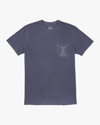 0 HOURGLASS SHORT SLEEVE TEE Blue M4373RHO RVCA
