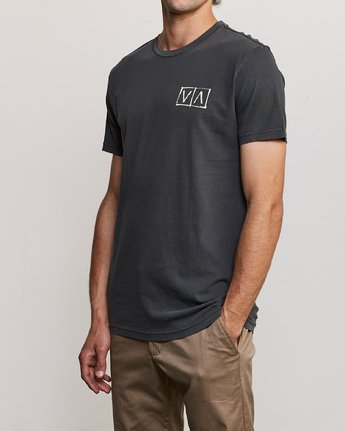 3 Ben Horton Box T-Shirt Black M438URHO RVCA