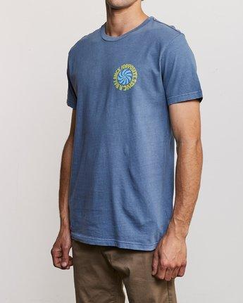 3 DMOTE Rvcafied T-Shirt Blue M438URRV RVCA