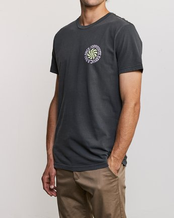 3 DMOTE Rvcafied T-Shirt Black M438URRV RVCA