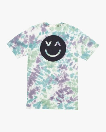 0 Happy Sad Tie Dye T-Shirt  M446VRHS RVCA
