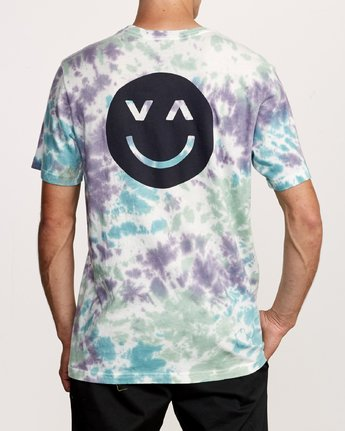4 Happy Sad Tie Dye T-Shirt  M446VRHS RVCA