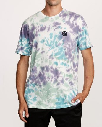 2 Happy Sad Tie Dye T-Shirt  M446VRHS RVCA
