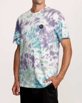 3 Happy Sad Tie Dye T-Shirt  M446VRHS RVCA