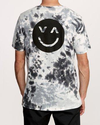 5 Happy Sad Tie Dye T-Shirt Black M446VRHS RVCA